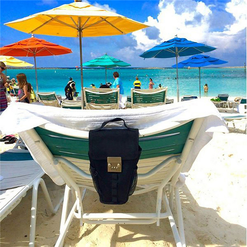 saco chave com fio anti roubo de senha de bloqueio ao ar livre praia swim seguro