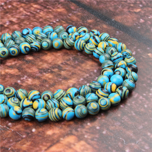 Wholesale Fashion Blue Malachite  Round Beads Loose Jewelry Stone 4/6/8/10/12mmSuitable For Making Jewelry DIY Bracelet Necklace