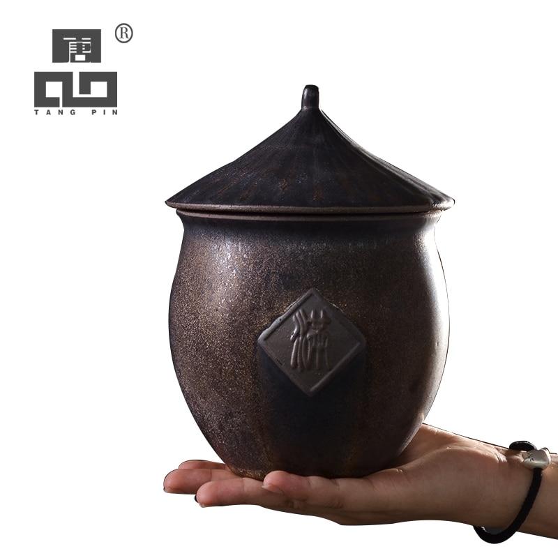 TANGPIN גדול קרמיקה תה בקופסאות בציר תה מיכל סיני קונג פו תה אביזרי אחסון מזון או תה