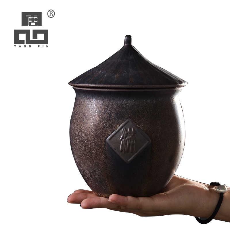 TANGPIN duża ceramiczne naczynie na herbatę kubki w stylu vintage Zbiornik na herbatę chiński kung fu akcesoria do herbaty do przechowywania żywności lub herbaty