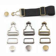 2 pçs/pçs/set suspensórios fivela prendedor rebites cinta clipes botão de metal macacão calças jeans para diy handmake costura ferragem acesso
