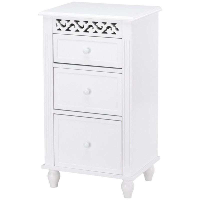 COSTWAY современный белый шкафчик для ванной домашняя мебель деревянная кухонная коллекция органайзер для хранения напольный шкаф HW57016