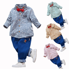Kids Clothes Boy Set 2019 New Fall Toddler Shirt + Jeans Korean Children Clothing Sets Baby Outfit