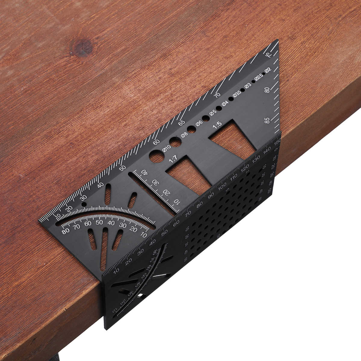 알루미늄 합금 3D 연귀 측정 광장 45 90도 각도 눈금자 구두점 마킹 게이지 프레이밍 각도기 목공