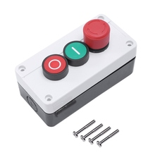 NC Emergency Stop NO Red Green Momentary Push Button Switch Station 600V 10A nc emergency stop no red green push button switch station 600v 10a