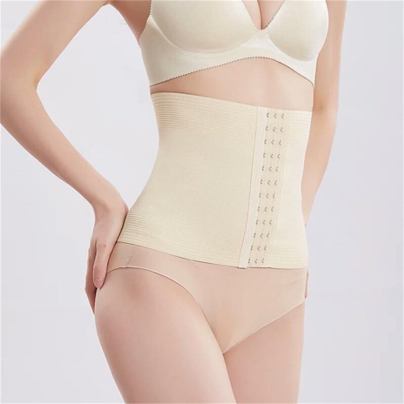 Inadice 2019 Breathable Elastic Belt Tummy Shaper Polyester Corset Belt Solid Men Slimming Belt Women Cummerbunds Clothing