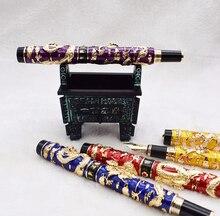 Jinhao Awesome бронзовый металлический держатель для перьевой ручки, роликовая ручка, подставка для дисплея, чехол карандаш, сумка для ручки с 3D тиснением, подарок для благородной коллекции