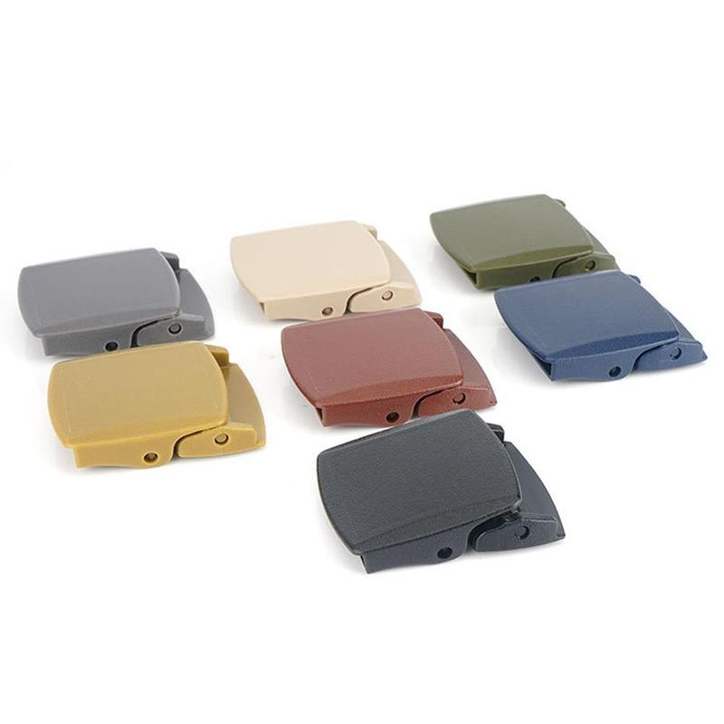1 Pcs 6*4.7cm Plastic Belt Buckle Canvas Military Adjustable Tied Webbing Women Diy Belt Accessories