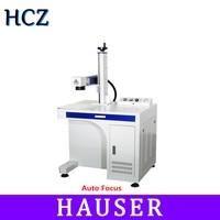 Free shipping HCZ Auto focus laser marking machine 20w30w 50w Desktop mini fiber laser marking machine for metal gold ring