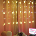 New five-pointed star curtain light led icicle light Christmas day wedding proposal romantic decoration light
