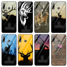 Browning Hunting Deer Head Tempered Glass Phone Case for
