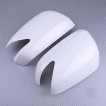 1 זוג דלת צד מראה כיסוי לוח Trim מקשטים דפוס מסגרת ABS Fit עבור הונדה Fit ג אז 2009 2010 2011 2012 2013