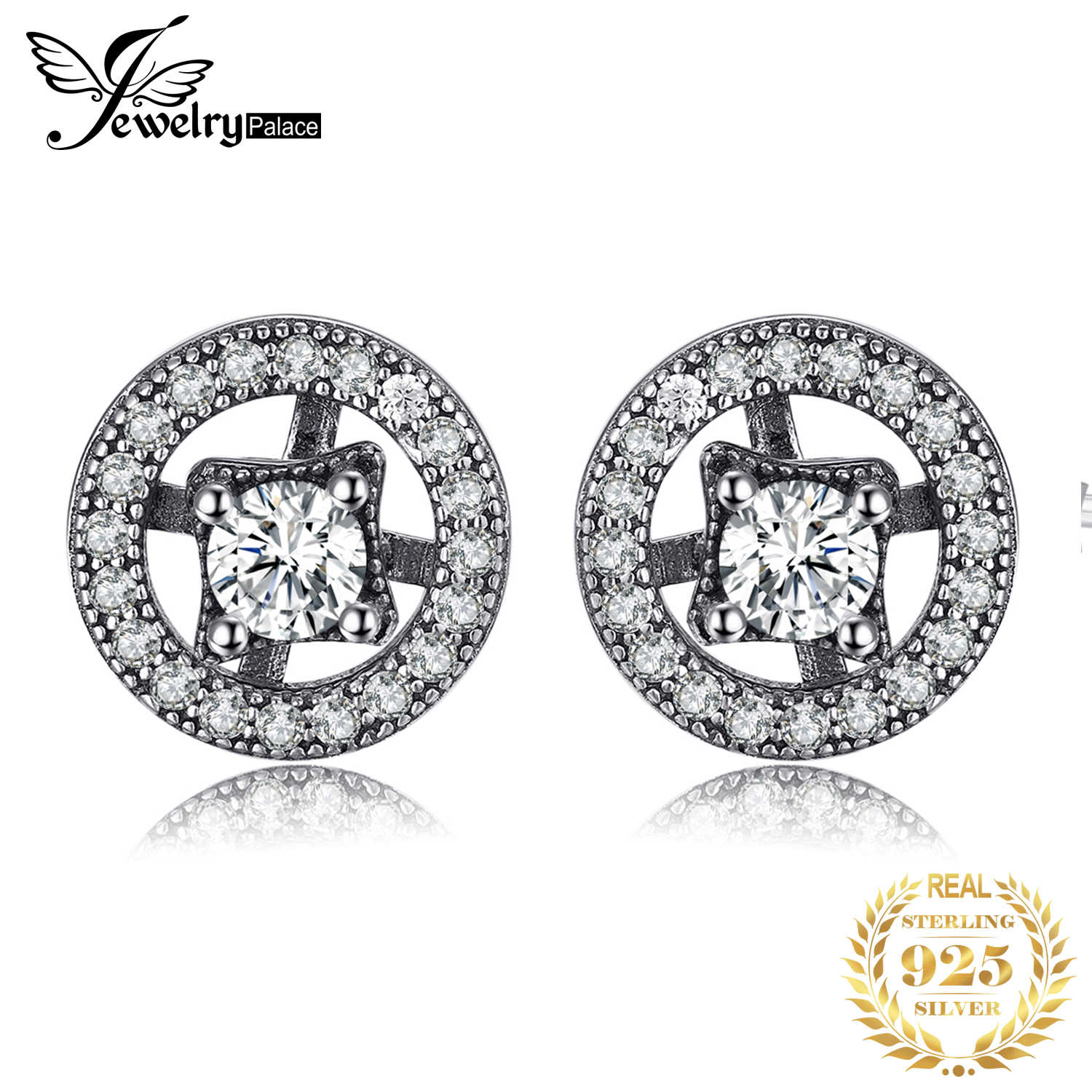 Jewelrypalace 925 Sterling Silver Earrings Stud Earrings Enchanted Vintage Jewelry Women Fashion Gifts for Her Wedding Jewelry
