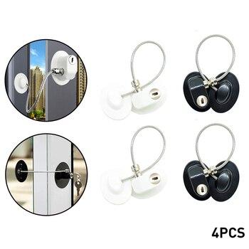 4PCS Children Safety Lock Refrigerator Door Lock Baby Safety Home Window Lock Child Locks Child Protection On The Cupboard
