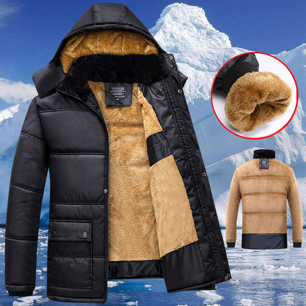 Low Price Loss Sale 2019 Men's Winter Thickening Cotton Coat Cold-proof Thermal Hooded Long-sleeve Jacket Drop Shipping Hot Sale