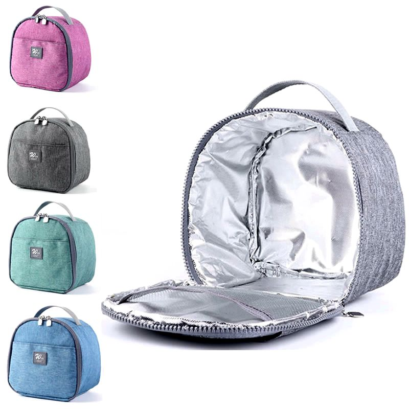 Casual Lunch Bag Portable Waterproof Insulated Food Carrying Big Cold Canvas Picnic Totes Case Kids Women Thermal Box Tas Bekal