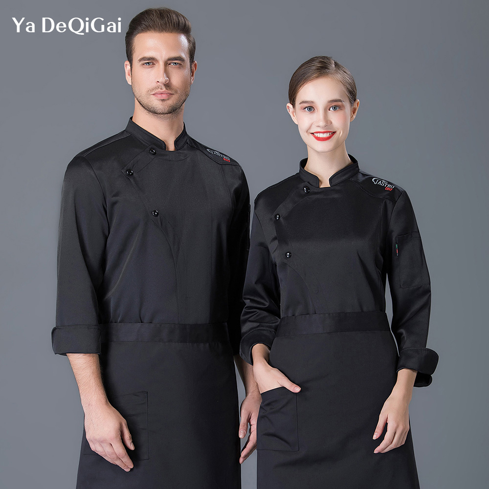 Restaurant Kitchen Chef Jacket Uniforms Shirts Hotel Cooker Work Clothes Men Wholesale Food Service Chef Coat Woman And Men New