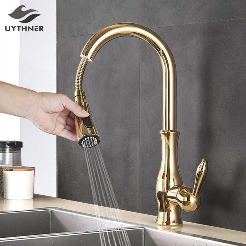 uythner gold polish swivel spout