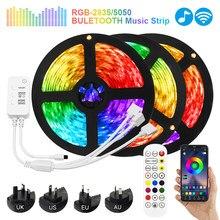 LED Bluetooth bande lumières 20M RGB 5050 SMD ruban Flexible LED RGB imperméable éclairage 5M 10M bande Diode DC 12V contrôle IP65