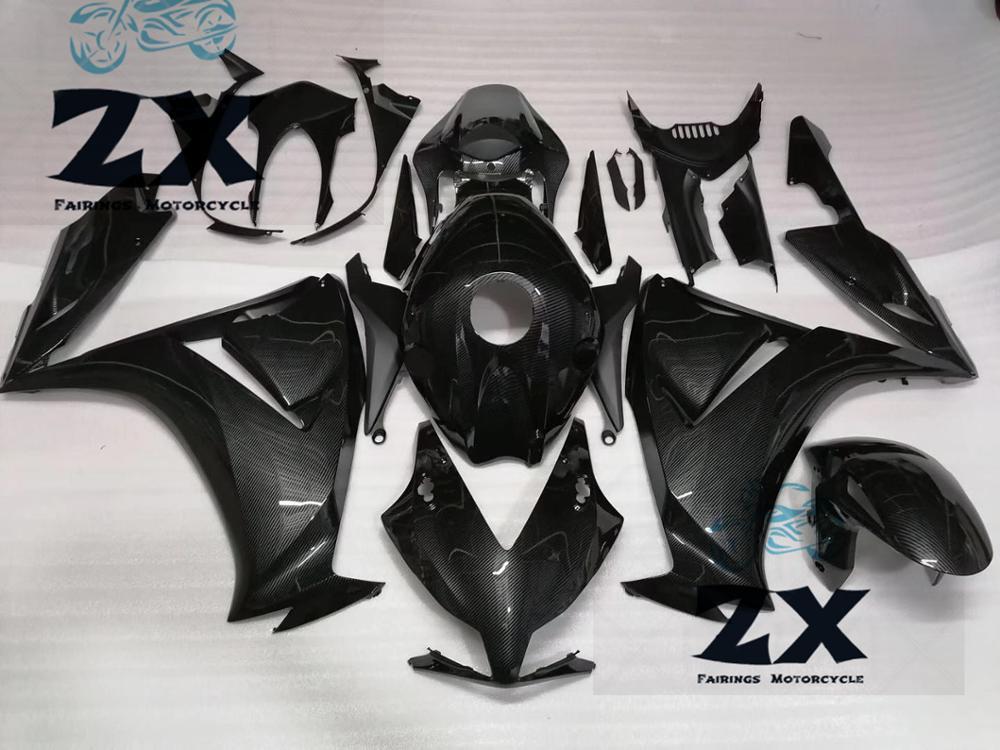 Motorcycle  ABS Plastic Injection Fairing Kit Bodywork Bolts For CBR1000RR 2012 2013 2014 2015 2016 Carbon Fiber  Black Good