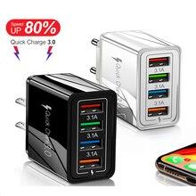 4 Usb-Plug Phone-Adapter Tablet Wall Huawei/xiaomi