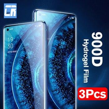 Перейти на Алиэкспресс и купить 3 шт. 900D Защитная Гидрогелевая пленка для OPPO Reno 3 Find X2 Pro 2Z 2F A5 A9 2020 Защита экрана для Realme 3 5 X2 Pro не стекло
