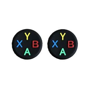 Image 5 - Thumb çubuk kavrama kap ABXY Logo Joystick kapak kılıf Sony Dualshock 3/4/5 PS3 PS4 PS5 Xbox One 360 ince anahtarı Pro denetleyici