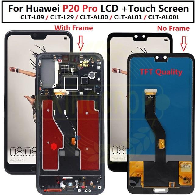 "Tft 6.1 ""Lcd Voor Huawei P20 Pro Lcd Met Frame Scherm Digitizer Vergadering Touch P20 Pro CLT AL01 l29 Lcd P20 Plus Display"