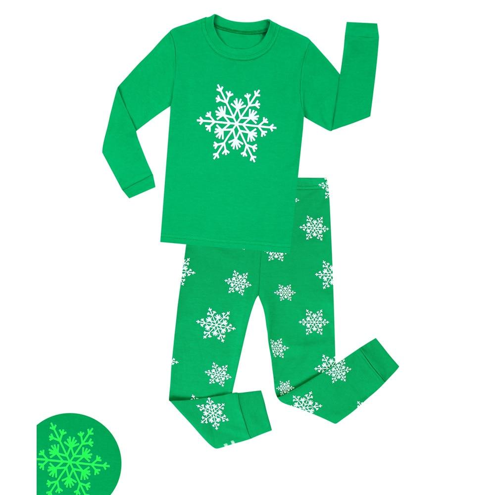 TUONXYE Boys Luminous Dinosaur Pajamas Kids Pajamas Set Cotton Child Pyjamas Children Long Sleeve Homewear Girls Sleepwear Set 6