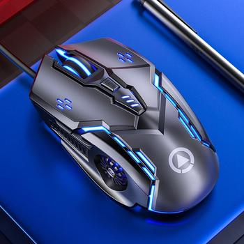 Silent/Sound USB Wired 6-Buttons 3200DPI Adjustable Light Gaming Mouse for PC 6D rows layout swift operation Computer Accessory