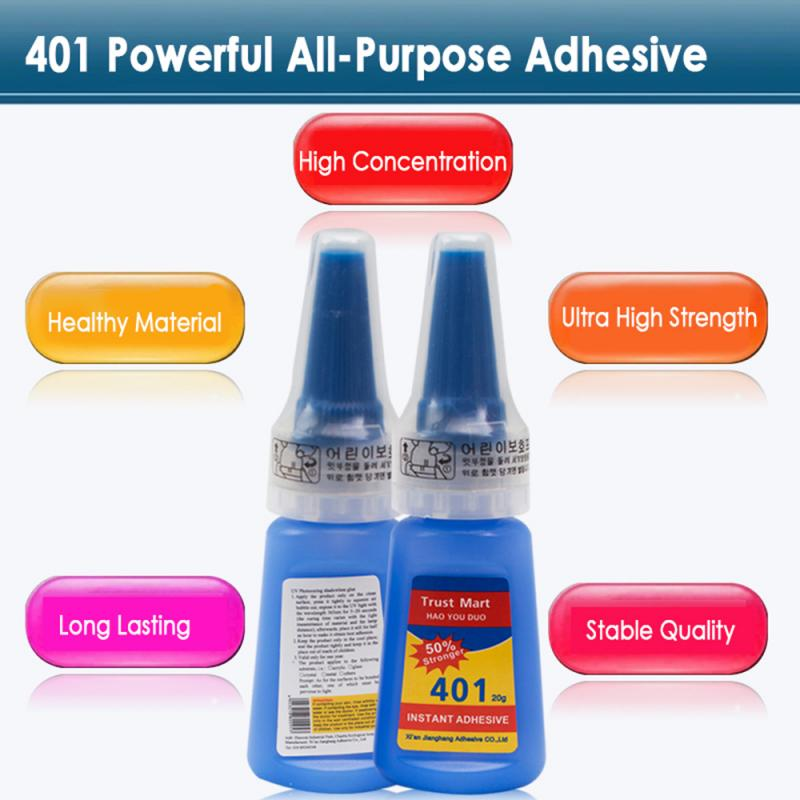 1 Bottle 401 Speed Bottle Strong Super Glue Quick Repair Instant Quick-drying Glue 20 G Multi-purpose Best TSLM1