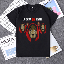 Hillbilly Design La Casa De Papel Funny T Shirt Money Heist Tees TV Series Tshirts Women Summer Short Sleeve House of Paper Tops
