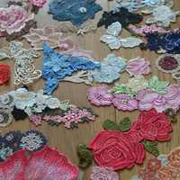 (20pcs/lot)Venice Sewing Random A Wide Range of Colours and Patterns Flower dress lace applique embroidery lace pattern