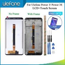 Para Ulefone Power 3 3S pantalla LCD y pantalla táctil con marco piezas de reparación perfectas para Ulefone Power 3 + herramientas y cinta + vidrio