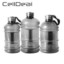 Grande capcity garrafa de água 1l/1.5l/2.2l shaker garrafa com punho ao ar livre fitness correndo ginásio treinamento garrafas esportivas plásticas