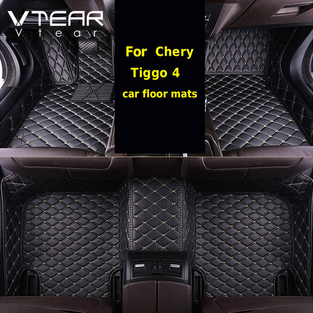 Vtear לchery Tiggo 4 פנים שטיח רצפה עמיד למים כרית שטיחי מחצלת כיסוי קישוט סטיילינג Mouldings אביזרי חלקים