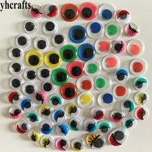 50PCS LOT All size round oval black colorful eyes Doll eyes Handmade crafts material Kids DIY