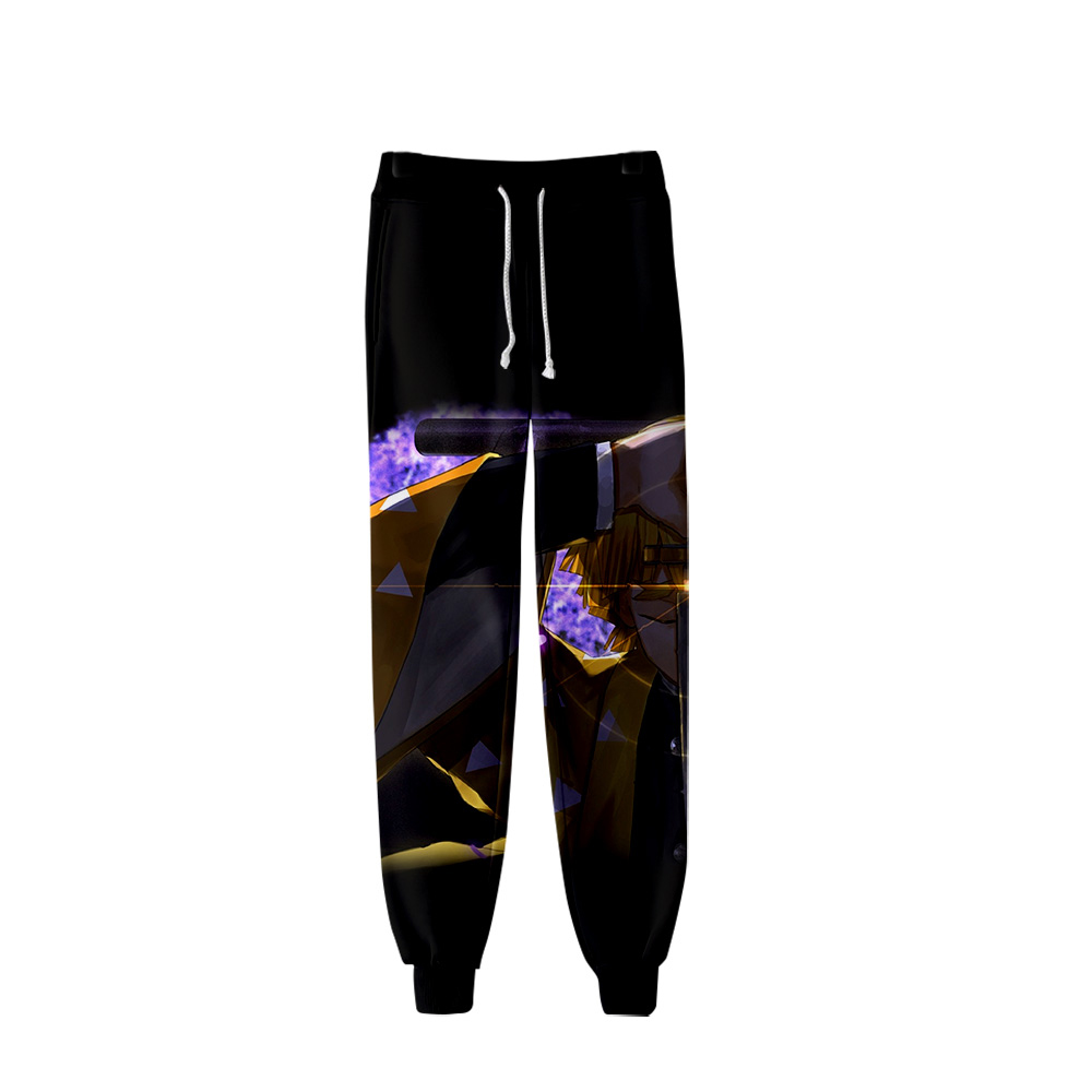 New My Hero Academia Autumn Winter Sports Pants Unisex Role-playing Casual  Thin Section Plus Velvet Thickening Hip Hop Pants
