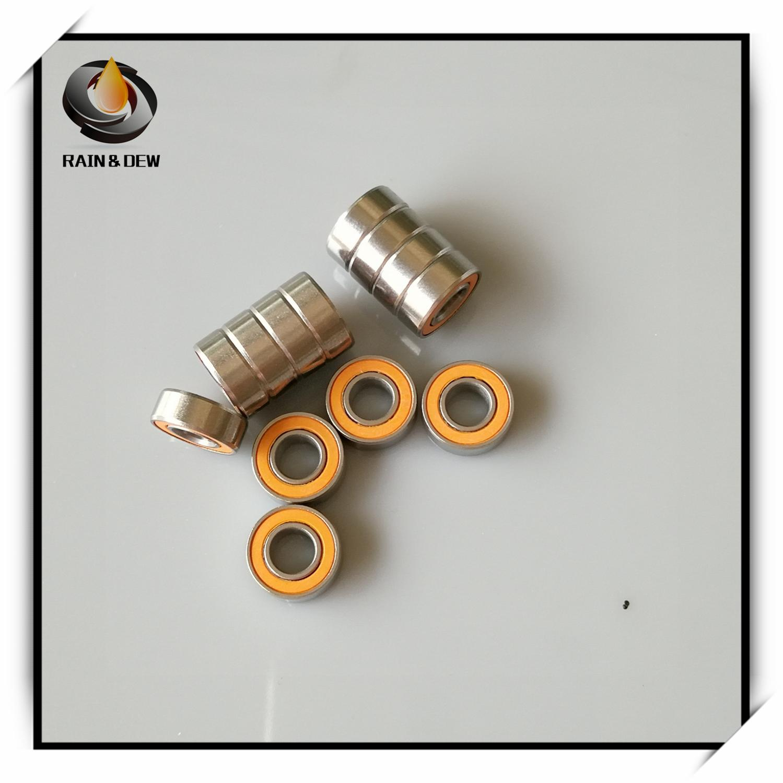 2Pcs 5X11X4mm SMR115 2OS CB ABEC7 LD 5x11x4 SMR115 2RS Stainless Steel Hybrid Ceramic Ball Bearing