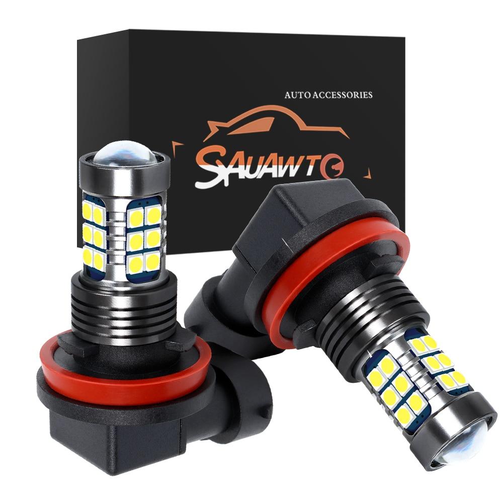 2PCS H11 LED Fog Light Bulb Auto Car Driving Lamp DRL For Renault Koleos Latitude Megane Fluence Coupe Talisman