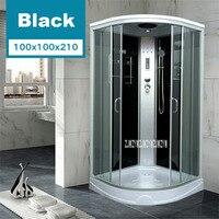 Fan shaped Glass Shower Room Overall Bathroom Overall Pulley Glass Fan shaped Partition Shower Closed Shower Room 220V 20W