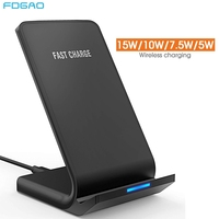 FDGAO 15W Qi Wireless Charger Stand for iPhone 11 Pro Max X XS 8 XR Samsung S9 S10 S8 Note 10 9 USB Type C Fast Charging Station|Wireless Chargers| |  -