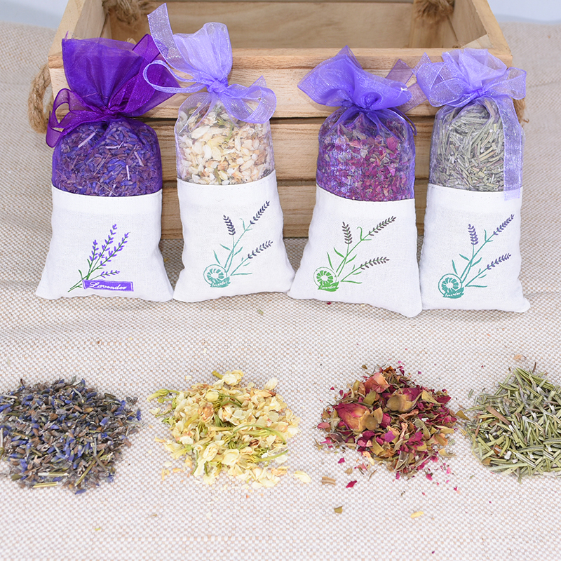 Natural Lavender Rose Dried Flower Sachet For Home Wardrobe Drawers Filled Air Fresheners Lavender Flower Buds