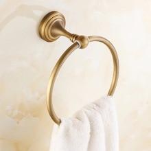 медь ванная аксессуары антиквариат латунь полотенце кольцо +% 2FF fashion бронза стена крепление ванна полотенце держатель вешалки