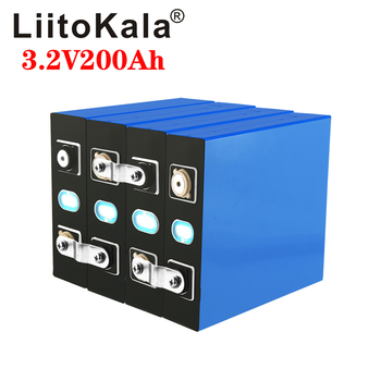 LiitoKala 3.2v 200Ah LifePo4 battery lithium 600A 3C high drain for diy 12V 24V 48V solar Inverter electric vehicle golf car image