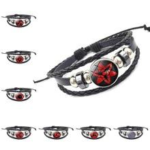 Anime Naruto Itachi Sharingan Hand Chain Cosplay Costumes Accessories Props Akatsuki eyes Bracelet Jewelry Kakashi Sasuke