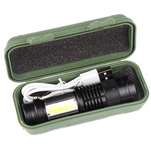 Built In Battery XP-G Q5 Zoom Focus Mini Led Flashlight Torc