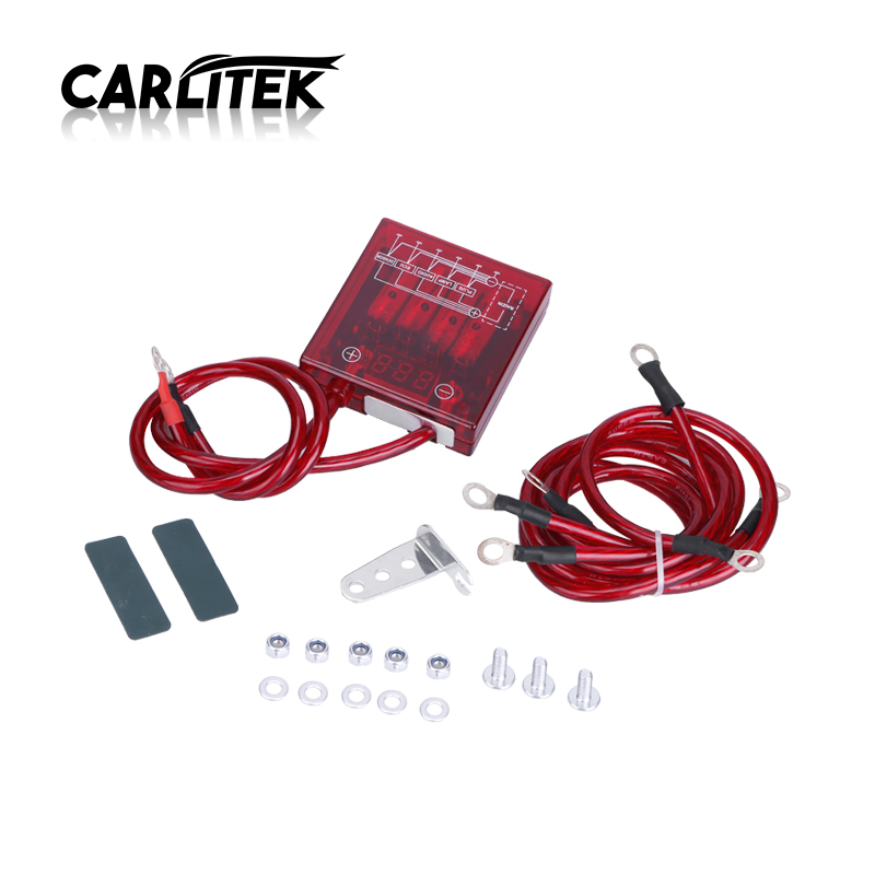 Car Fuel Saver Voltage Stabilizer Regulator Earth Cable Turbo Engine Power Chip