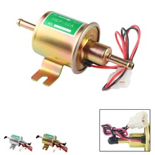 HEP 02A Electric Fuel Pump 12v Low Pressure Bolt Fixing Wire Diesel  Set Metal Gold Silver 8mm FP009