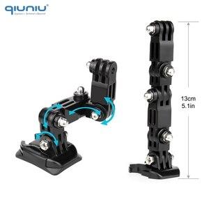 Image 2 - QIUNIU Adaptador de hebilla de montaje fijo para casco de motocicleta accesorio de acción para GoPro Hero 9/8/7/6/5/4/3 para Yi, para DJI Osmo